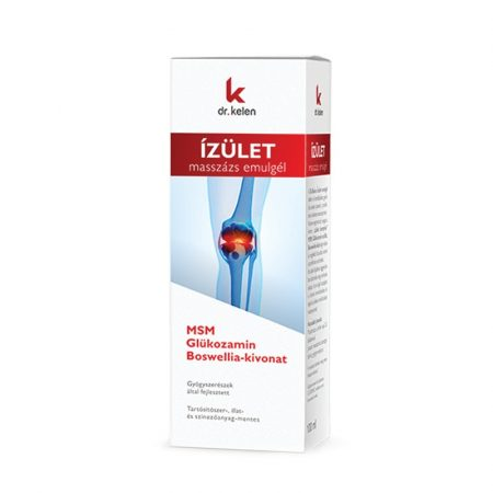 Ízületi masszázs emulgél - MSM Glükozamin Boswellia-kivonat (100 ml)