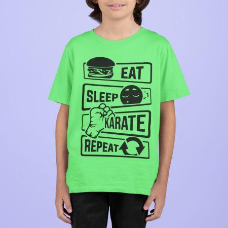 Eat-sleep-karate póló