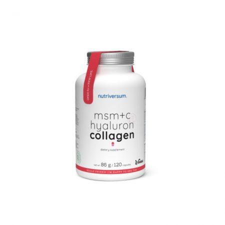 MSM+C Hyaluron Collagen - 120 kapszula - WSHAPE - Nutriversum