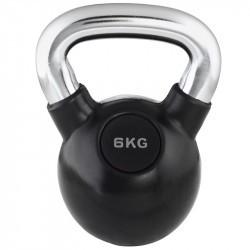 Kettlebell Trendy fekete-króm 6 kg