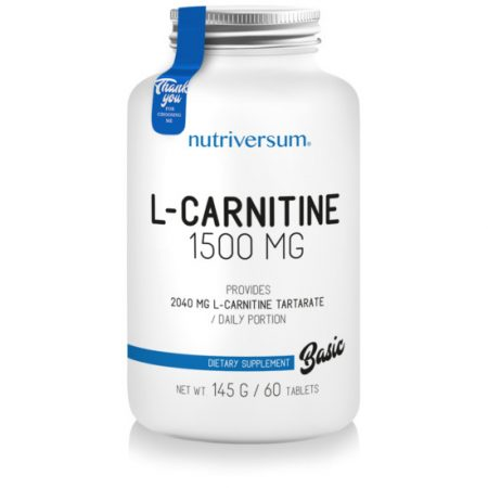 L-carnitine 1500 mg - 60 tabletta - BASIC - Nutriversum