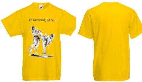Én karatézok póló - sárga - gyerek