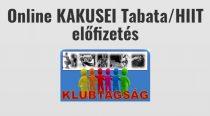 Online KAKUSEI Tabata/HIIT edzés