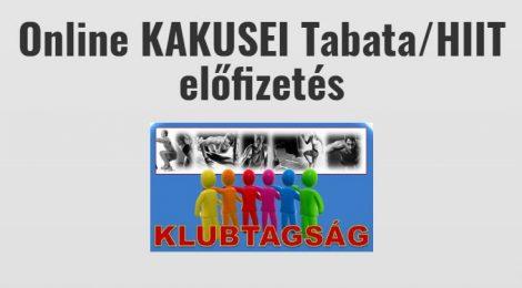 Online KAKUSEI Tabata/HIIT klubtagság - negyedéves
